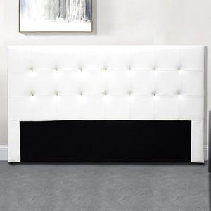 TÊTE DE LIT Tête De Lit Capitonnée Capitole - Blanc - 140 cm