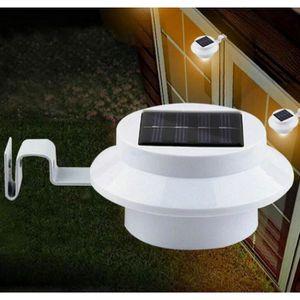 LAMPE DE JARDIN  3LED Lumiere Applique murale solaire exterieure ja