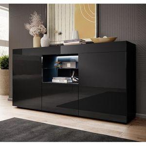 BUFFET - BAHUT  Bahut modèle Sefora couleur noir