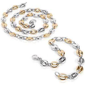 PARURE AURSTORE® Parure Bracelet ET Chaine Homme Acier IN
