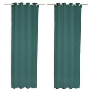 VOILAGE TODAY Paire de voilages - 135 x 240 cm - Vert émer