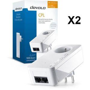 COURANT PORTEUR - CPL Pack 2x DEVOLO CPL 8120 dLan 1000duo+ Blanc