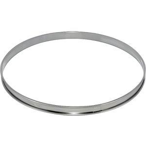 CADRE A PATISSERIE DE BUYER Cercle à tarte - Inox - Ø 20 x H 2 cm - T