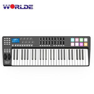 CLAVIER D'ORDINATEUR WORLDE PANDA49 Clavier contrôleur MIDI MIDI USB po