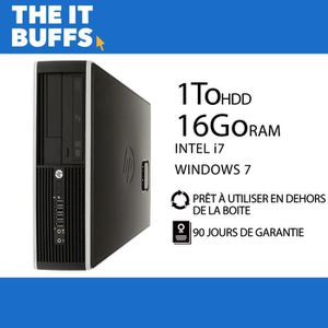 ORDI BUREAU RECONDITIONNÉ HP Elite 8300 I7 16Go RAM 1To HDD Windows 7 Ordina