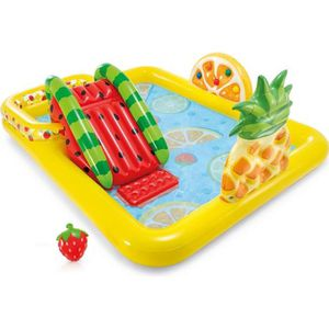 PATAUGEOIRE Aire de jeux Fruits - Intex 244 x 191 x 91 cm