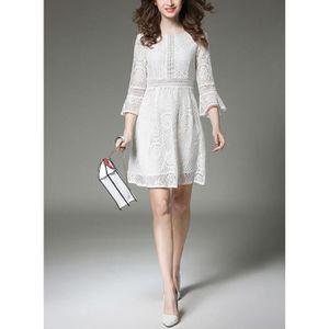 ROBE Dresstells Robe femme en dentelle robe blanc de ma