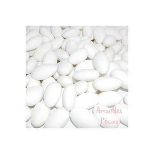 DRAGÉES 1KG dragées Amande 22% - Blanc
