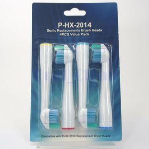 BROSSE A DENTS  8pcs (2x4) de têtes à brosse à dents de rechange