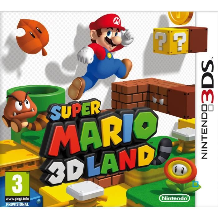 super mario 3d land jeu 3ds achat vente jeu 3ds super mario 3d land 2ds 3ds cdiscount. Black Bedroom Furniture Sets. Home Design Ideas