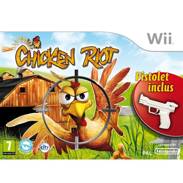 chicken riot pistolet jeu console wii achat vente jeux wii chicken riot pistolet wii. Black Bedroom Furniture Sets. Home Design Ideas
