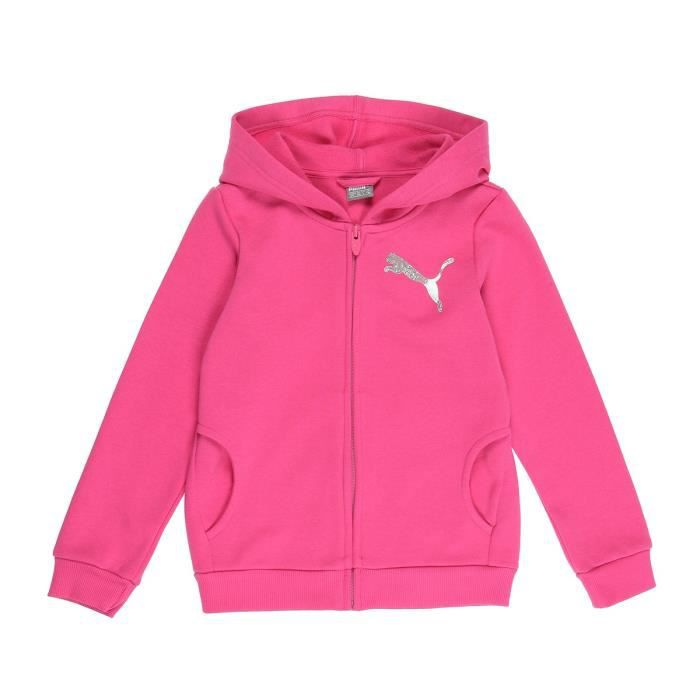 PUMA Sweatshirt à capuche Graphic Tee - Fille - Rose bonbon