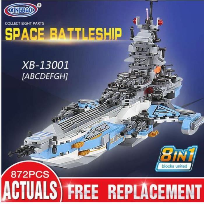 XINGBAO 13001 Blocs de construction 8-en-1 du cuirassé spatial