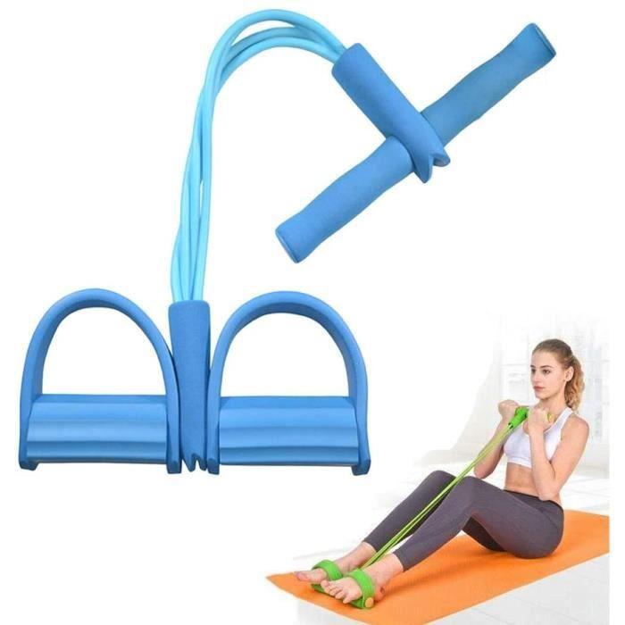 Jetcco 1 pcs Corde de Tension, 4 Cordes de pédale pour Tube Bandes d'exercice de Musculation Expander Le Gymnase à la Maison