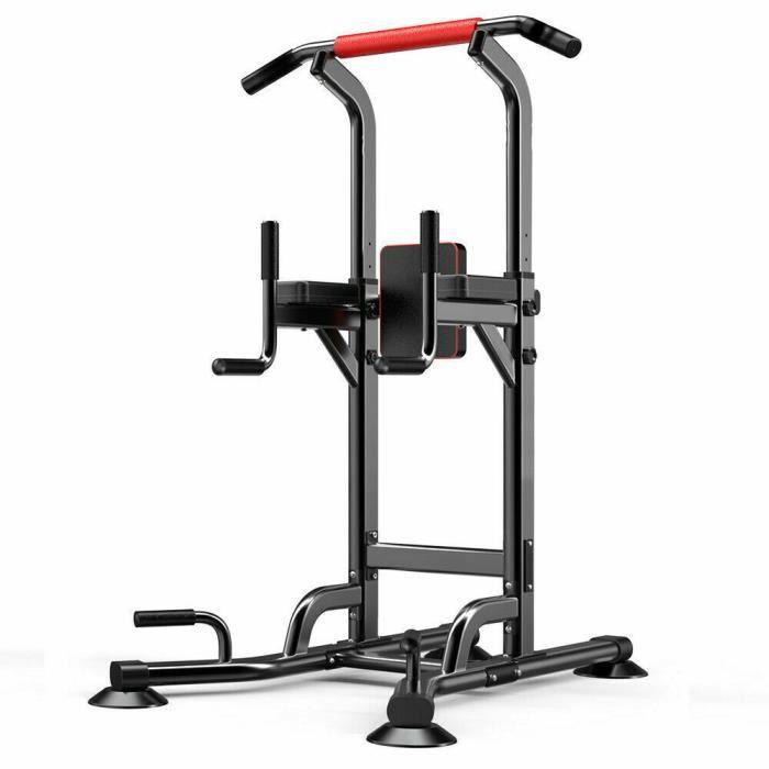 Pullup Fitness Barre de Traction Ajustable Station de Musculation Chaise Romaine Station dips Multifonctions Banc de Musculation