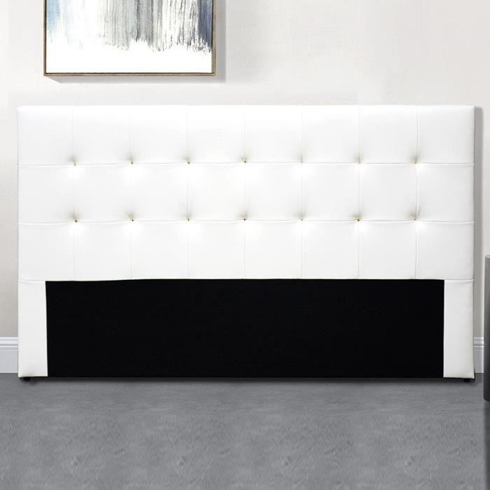 Tête De Lit Capitonnée Capitole - Blanc - 140 cm