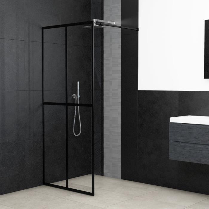 Écran de douche - Paroi de douche - porte de douche - Verre trempé 118x190 cm