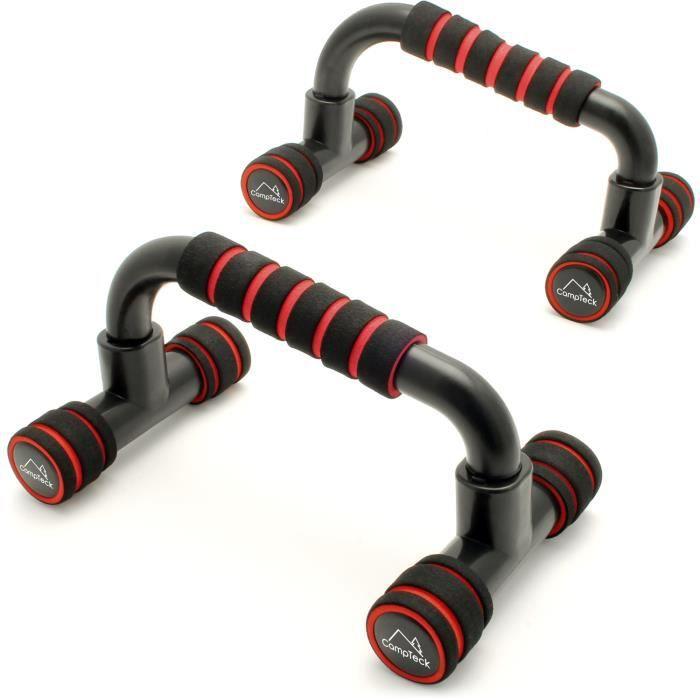 CampTeck 1 Paire Barres Push Up Poignée de Pompe pour Chest Press Musculation Fitness Gym
