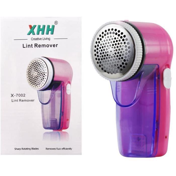 Kanff Rasoir Electrique Anti-bouloche-anti-peluche Rasoir Rechargeable pour Tissu Vecirctements Tapis,etc. Rose