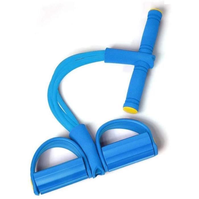 Extenseurs et câbles de résistance, 4 Tube Jambe Exerciseur Pull Cordes Bandes Yoga Fitness Pied Pédale Pull Cordes Sit-up Bodybuild