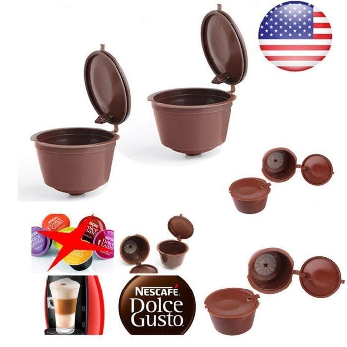 Café Capsule de café réutilisable pour tous les modèles Nescafe Dolce Gusto filtres rechargeables paniers Pod doux goût doux