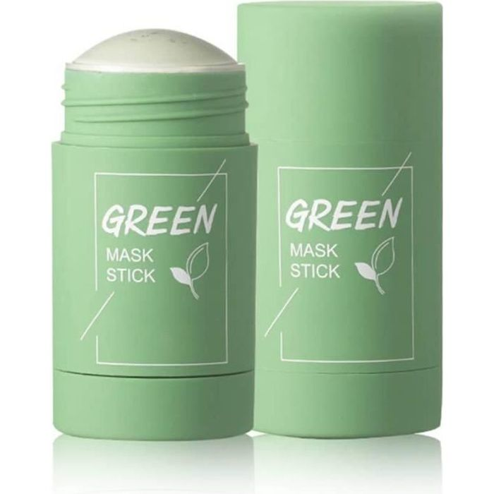 Green Tea Purifying Clay Stick Mask, Oil Control Anti-Acne Deep Cleaning Moisturizing Mask