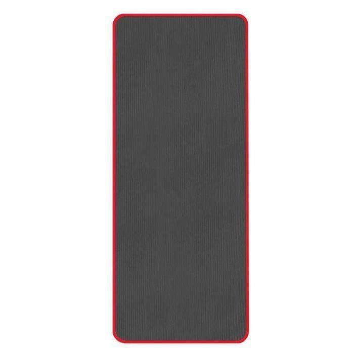Tapis De Yoga Anti-Dérapant Très Épais 10 Mm Tapis De Sport De Fitness Sans Goût 183 X 61 Cm Noir Bo26859