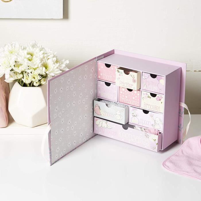 Tri-Coastal Design - Le premier coffret souvenir de bébé avec 9 tiroirs pour ranger les souvenirs et les trésors spéciau 21645