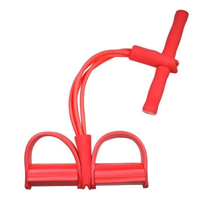 Tube Résistance exercice d'entraînement Bande Stretch Pilates 4 tubes Rouge