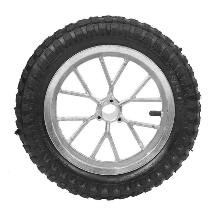 Drfeify Roue de moto Roue de pneu avant arrière de moto de 12,5 x 2,75 pouces avec jante pour Coolster 49cc 2 temps Mini Dirt Bike