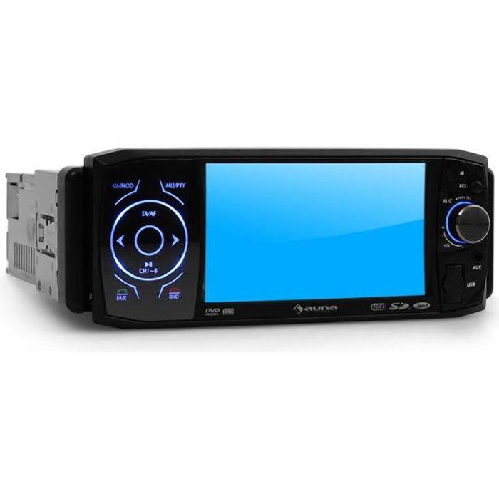 auna MVD-420 - Autoradio multimedia avec ecran intégré 11cm, Bluetooth, lecteur DVD, port USB & SD (kit mains-libres, tuner FM/AM