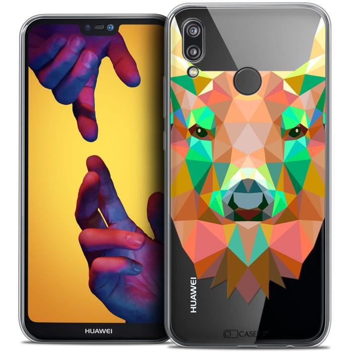 Coque Gel Huawei P20 LITE (5.84 ) Extra Fine Polygon Animals - Cerf