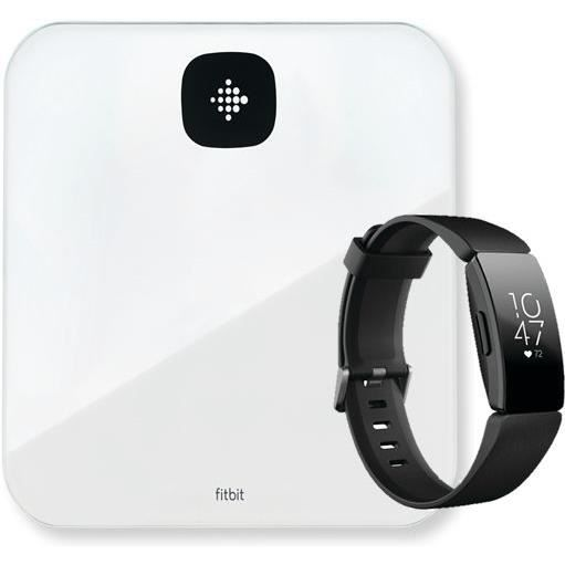 FITBIT Kit bracelet d'activités Inspire HR + balance intelligente Aria Air