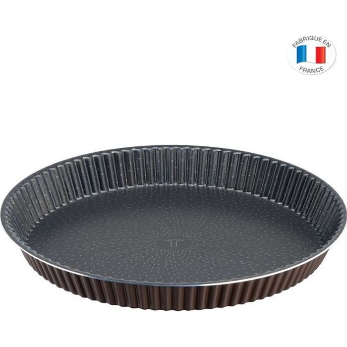 TEFAL SUCCESS Moule à tarte J1608202 diamètre 24 cm marron