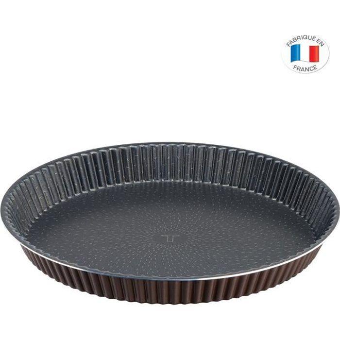 TEFAL J1608202 SUCCESS Moule à tarte 24cm, Revêtement antiadhésif sain, Démoulage parfait, Cuisson parfaite, Aluminium recyclé