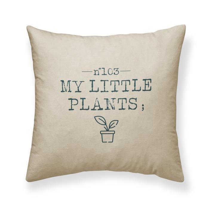TODAY Jardin d'Hiver Coussin My Little Plants - 100% coton - 40 x 40 cm