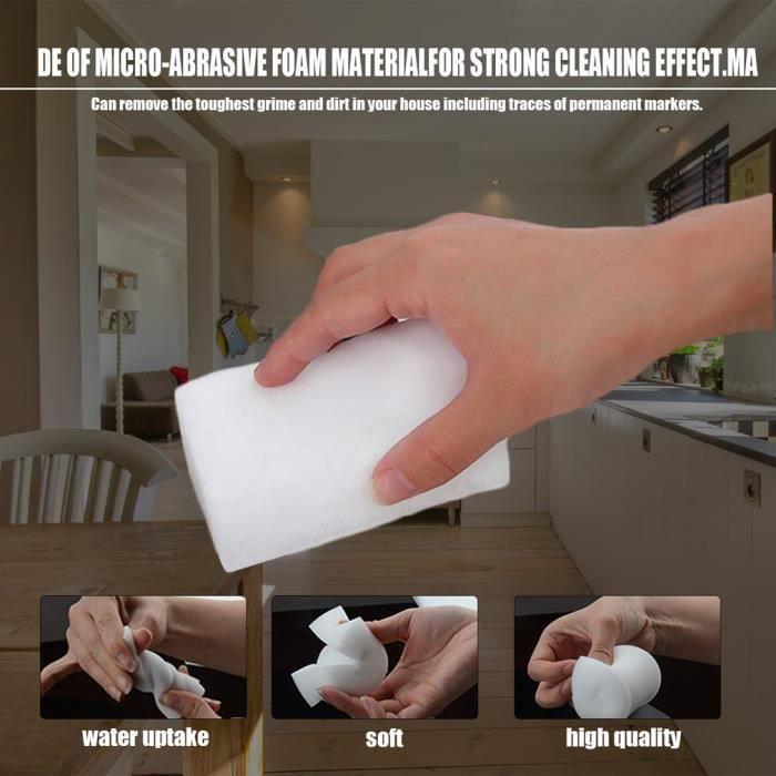 10PCS Magic Sponge Eraser Cleaner, Nano éponge nettoyant multifonction pour voiture murale de bureau