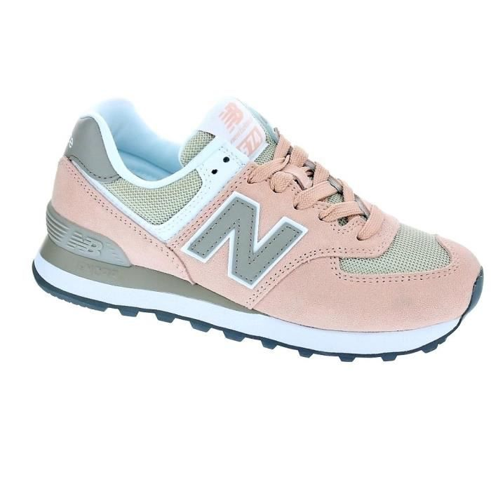 Baskets basses - New Balance WL574 Femme Rose