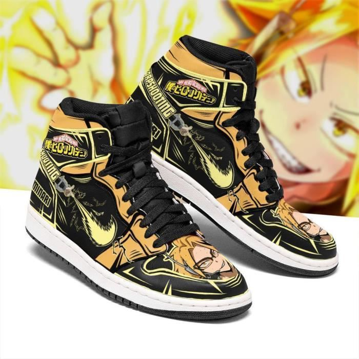 Baskets Anime My Hero Academia Denki Kaminari Chaussures de course pour Homme Femme