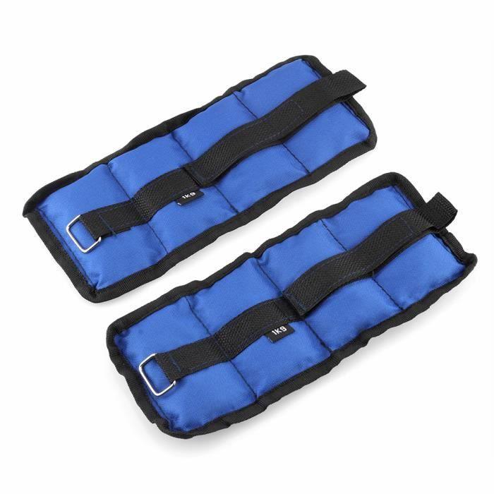 1Kg (2pcs*0.5kg) Poids Chevilles Réglables Bracelets lestés avec boucle et bande magique Équipement De Fitness Pour Entraînement