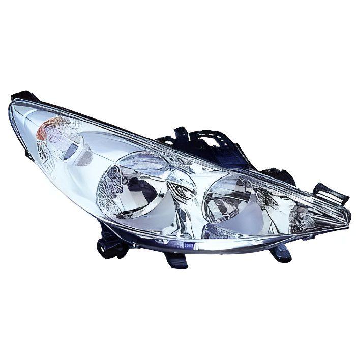 Phare avant droit 2 Lampes PEUGEOT 207 de 2009 a 2012 pas cher