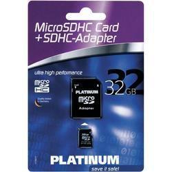 Carte MicroSDHC classe 4 Platinum 32Go + adaptate…