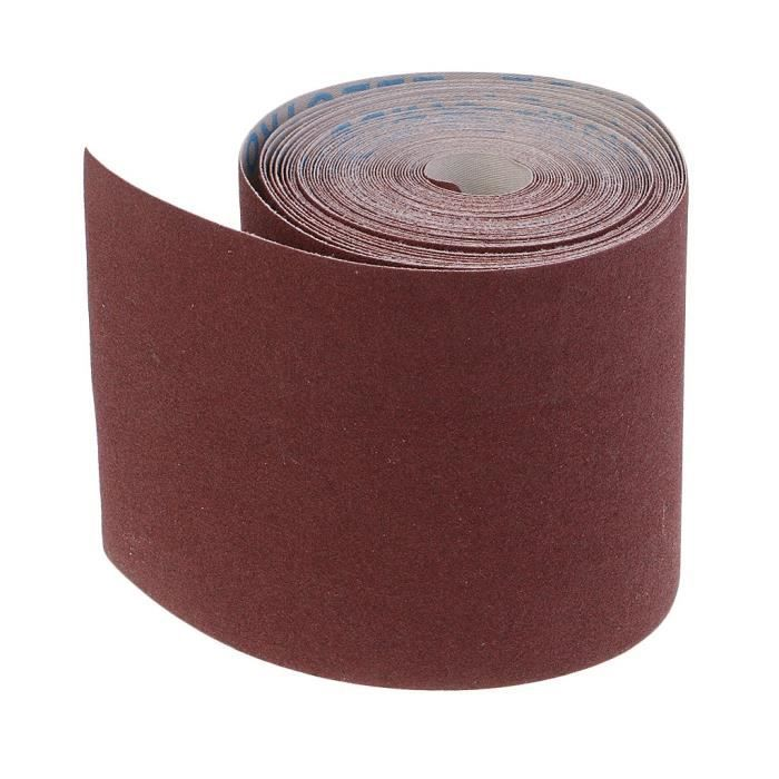 Rouleau Papier Abrasif Tissu Auto-agrippant Grain 180-10m