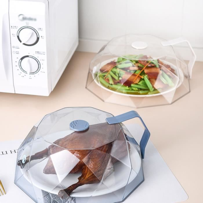 1pc Micro-ondes Couverture Étanche À La Poussière Couvercle De L'huile-preuve Alimentaire pour Restaurant CLOCHE MICRO-ONDE