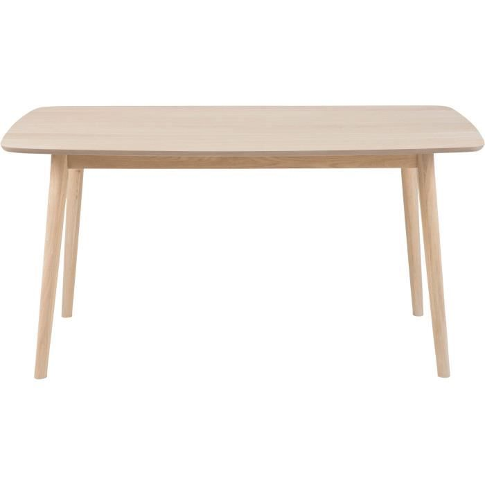 Nagano table manger en bois massif 8 personnes 180x90 cm for Table a manger bois massif