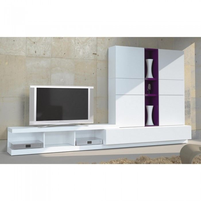 Meuble t l vision design lucy in the sky couleu achat vente meuble tv me - Cdiscount meuble tv design ...