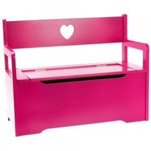 coffre jouets banc baby bench rose rose achat vente. Black Bedroom Furniture Sets. Home Design Ideas