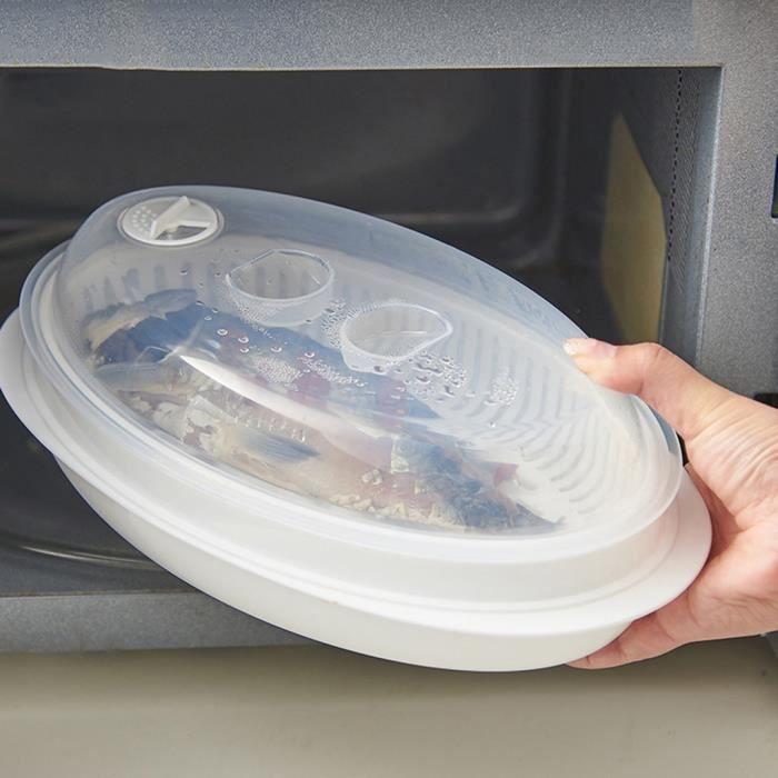 Micro-Ondes Pocheuse Aliments Cuisinière clair en plastique blanc cœur forme compartiments