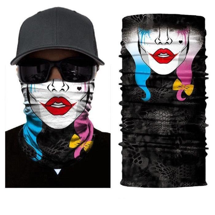 CRAVATE - NŒUD PAPILLON ILOVEDIY Tour de Cou Moto Tete de Mort Clown 3D Cr