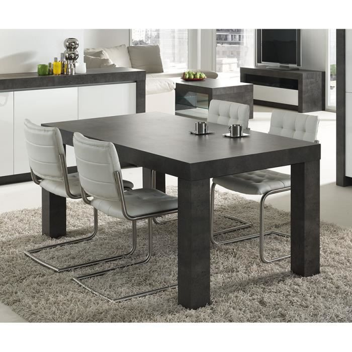 table manger gris effet b ton cir moderne murilo table 180 cm achat vente table a manger. Black Bedroom Furniture Sets. Home Design Ideas